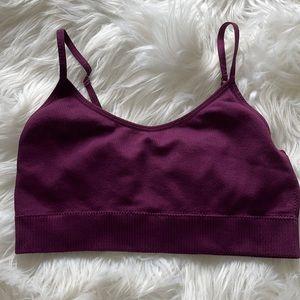 NO BOUNDARIES Purple Bralette Adjustable